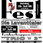 Einladung Zeltfest 2008