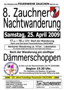 Einladung Nachtwanderung 2009