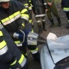 Übung mit dem hydraulischen Rettungsgerätesatz